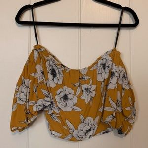 Forever 21 cropped off the shoulder top